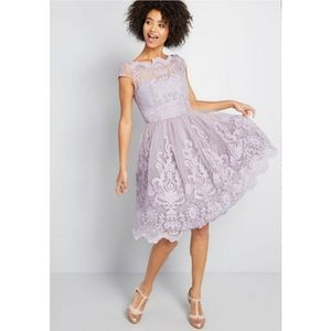 NWT Chi Chi London Lavender Lace Midi Dress
